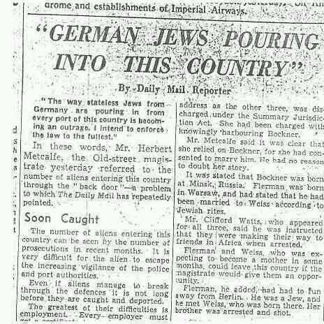 Daily Mail 1938